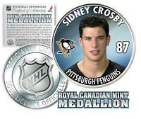 2005 06 SIDNEY CROSBY PENGUINS 87 NHL ROYAL CANADIAN MINT ROOKIE COIN
