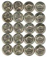 LOT OF 40 1952 S BU 5C JEFFERSON NICKELS BRILLIANT UNCIRCULATED ROLL 41775