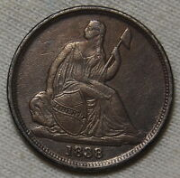 1838 O LIBERTY SEATED DIME VF TO XF US COIN