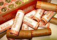 2003D BANK WRAPPED ROLL OF ILLINOIS STATE QUARTERS