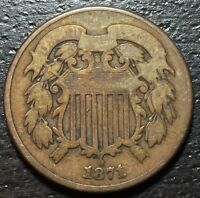 1871 2 TWO CENT PIECE  --  MAKE US AN OFFER  Y4154