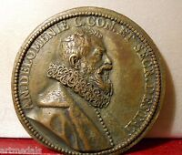 1616 FRENCH HISTORICAL MEDAL ANTOINE DE LOMNIE SECRETARY OF STATE