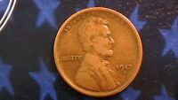 1913-S LINCOLN CENT  COLOR LIGHTLY CIRCULATED    740B1