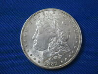 1887 S U.S. MORGAN SILVER DOLLAR COIN