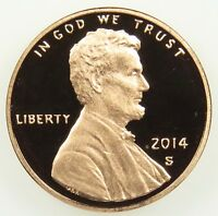 2014 S DEEP CAMEO PROOF LINCOLN SHIELD CENT PENNY B03