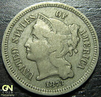 1873 3 CENT NICKEL PIECE      MAKE US AN OFFER  G3242