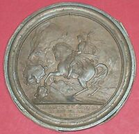 NAPOLEON PASSAGE OF THE GREAT ST BERNARD 1800 LEAD FILLED BRONZE MEDAL ANDRIEU