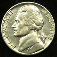 1958 D UNCIRCULATED JEFFERSON NICKEL BU B04