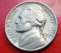 VERY NICE 1952 S USA JEFFERSON NICKEL MONTICELLO REVERSE LOOKS GREAT. SOLID.