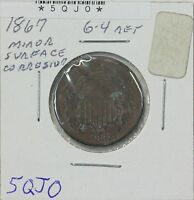 1867 TWO CENT G