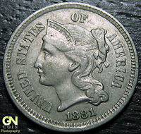 1881 3 CENT NICKEL PIECE      MAKE US AN OFFER  G2199