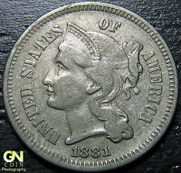 1881 3 CENT NICKEL PIECE      MAKE US AN OFFER  G3825