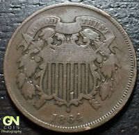1864 2 TWO CENT PIECE  --  MAKE US AN OFFER  Y2287