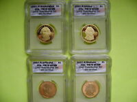 2007-S PRESIDENTIAL ICG PR70 DEEP CAMEO 4-COIN DOLLAR PROOF SET