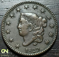 1829 CORONET HEAD LARGE CENT N1 R2        MAKE US AN OFFER  O3042