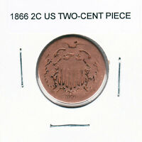 1866 2C TWO-CENT SHIELD COIN YOU GRADE IT YOURSELF