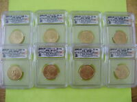 2007 PRESIDENTIAL P&D ICG SATIN FINISH 69 SATIN FINISH FIRST RELEASE 8-COIN DOLLAR SET