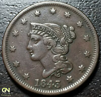 1843 CORONET HEAD LARGE CENT     MAKE US AN OFFER  G3871
