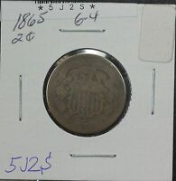 1865 TWO CENT G