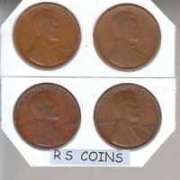 1920D- 1920S- 1925D- 1925S   4  GOOD/BETTER  LINCOLN CENTS RS COINS FREE SHIP