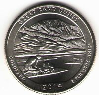 US. 2014 D. GREAT SAND DUNES NATIONAL PARK CO. MARCH 17 1932. UNCIRCULATED.