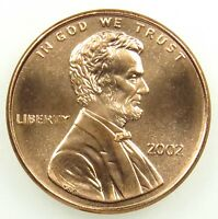 2002 UNCIRCULATED LINCOLN MEMORIAL CENT PENNY B01