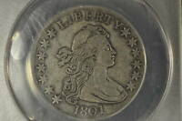 1801  ANACS VF-35 DETAIL  DRAPED BUST HALF DOLLAR