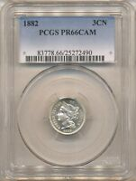 1882 THREE CENT NICKEL PR66CAM PCGS   SUPER FLASHY & APPEALING