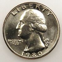 1980 D UNCIRCULATED WASHINGTON QUARTER B01