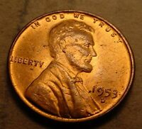 LINCOLN WHEAT CENT 1953-D GEM BU RED  STRIKE   LJM3113