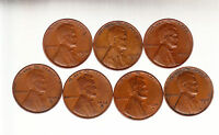 1934D,1935DS,1936DS,1937DS,1938DS,1939DS   LINCOLN CENT ROLL MIXED ALL MINTMARKS