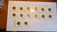 1887,92,94,97,982 01,02,05,06,07,10,11,12 LIBERTY HEAD V NICKELS 14 COIN LOT