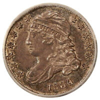 1834 10C LARGE 4 ICG MINT STATE 60 DETAILS  UNCIRCULATED CAPPED BUST DIME