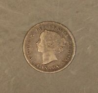 1887 CANADA 5 CENT SILVER CIRCULATED     FREE U.S. SHIPPING