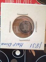 1831 CAPPED BUST 5 CENT PIECE FULL LIBERTY FINE TONED