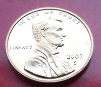 FROSTY SHARP LINCOLN PENNY. 2002  SAN FRANCISCO LOWER MINTAGE PROOF SHARP