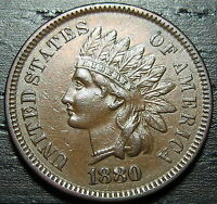 1880 SNOW 4 INDIAN HEAD CENT     MAKE US AN OFFER  O2613