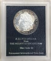 1879 S REDFIELD COLLECTION UNCIRCULATED MORGAN SILVER DOLLAR RAINBOW TONING