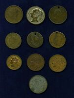 G.B./U.K./ENGLAND MISC. MEDALS & TOKENS 1791 1837 GROUP LOT OF 10