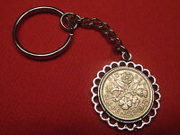 ANY YEAR LUCKY SIXPENCE PENDANT KEYRING IDEAL BIRTHDAY WEDDING GIFT RETIREMENT
