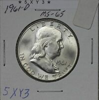 1961 D FRANKLIN HALF MS