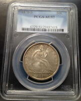 1870 S  SEATED LIBERTY HALF  PCGS  AU 53  RARITY RATES WITH THE 1878 CC