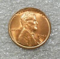 1942-D DOUBLE DIE OBVERSE DDO-002 CHOICE RED BU LINCOLN WHEAT CENT
