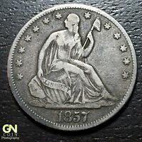 1857 SEATED LIBERTY HALF DOLLAR      MAKE US AN OFFER  O5766