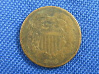 1868 U.S. 2 TWO CENT COPPER COIN