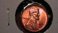 1955 D LINCOLN CENT  BRILLIANT UNCIRCULATED FULL BLAZING RED BEAUTY  298A2