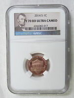 2014 S PROOF LINCOLN SHIELD CENT/PENNY   NGC PF 70 RED ULTRA CAMEO 017