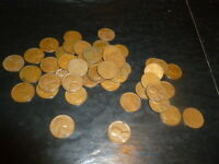 32 ROLLS 1957 P LINCOLN WHEAT CENT PENNY ROLL 1600 CIRCULATED PENNIES LOT COINS