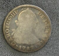 SPAIN 1787 SILVER 2 REALES  01002