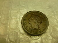 1848 BRAIDED HAIR LARGE CENT PENNY 1C UNITED STATES  QUICK SHIPPING COIN
